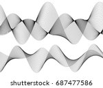 design elements. wave of many... | Shutterstock .eps vector #687477586