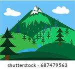 landscape illustration with...