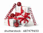 Christmas Presents Isolated On...