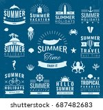 summer labels  logos  tags and... | Shutterstock .eps vector #687482683