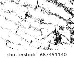 distressed wood bark surface... | Shutterstock .eps vector #687491140