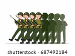 army soldiers on parade