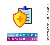 medical insurance icon | Shutterstock .eps vector #687500050