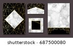 stone brochure  banner layout... | Shutterstock .eps vector #687500080