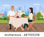 vector illustration of young... | Shutterstock .eps vector #687505258