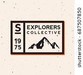 outdoor badge. exploring  ...   Shutterstock .eps vector #687507850