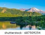 twilight over beautiful blue... | Shutterstock . vector #687509254