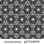 seamless pattern of japanese... | Shutterstock .eps vector #687509899