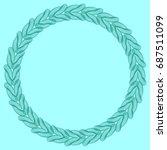 light blue solid background... | Shutterstock . vector #687511099