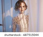 art fashion portrait of... | Shutterstock . vector #687515044