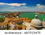 italy. cityscape of venice from ... | Shutterstock . vector #687515470