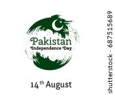 vector illustration pakistan... | Shutterstock .eps vector #687515689