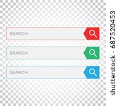 search bar field. set vector...