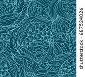 abstract under sea flora... | Shutterstock .eps vector #687524026