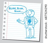 businessman speaking blah blah... | Shutterstock .eps vector #687524290