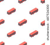 bus icon in cartoon style... | Shutterstock .eps vector #687526300