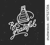 be grateful kitchen quote... | Shutterstock .eps vector #687527206