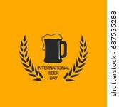 international beer day vector | Shutterstock .eps vector #687535288