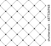 geometric grid seamless pattern ... | Shutterstock .eps vector #687536968