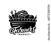 farmers market hand written... | Shutterstock . vector #687538534