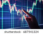 businessman checking stock... | Shutterstock . vector #687541324