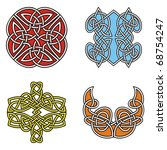 a set of celtic ornamental... | Shutterstock .eps vector #68754247