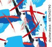 vector plastic contemporary art.... | Shutterstock .eps vector #687543790
