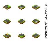 isometric road set of cracks ...   Shutterstock .eps vector #687546310