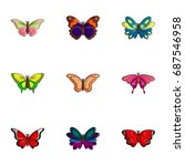Different Butterfly Icons Set....