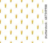 beer glass pattern seamless... | Shutterstock .eps vector #687549988