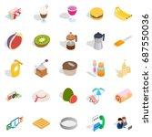 brunch icons set. isometric set ... | Shutterstock .eps vector #687550036