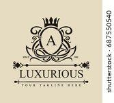 luxury logo template in vector... | Shutterstock .eps vector #687550540