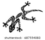 tribal tattoo of the gecko... | Shutterstock .eps vector #687554083