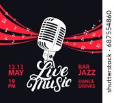 live music poster with a... | Shutterstock . vector #687554860