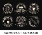international beer day  beer... | Shutterstock .eps vector #687555688