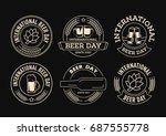 international beer day  beer... | Shutterstock .eps vector #687555778