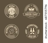 international beer day  beer... | Shutterstock .eps vector #687555796
