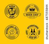 international beer day  beer... | Shutterstock .eps vector #687555844