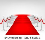 realistic vector red event...   Shutterstock .eps vector #687556018