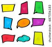 colorful set dialog box  speech ...   Shutterstock .eps vector #687556183