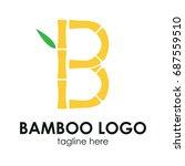 bamboo logo concept. b alphabet ... | Shutterstock .eps vector #687559510
