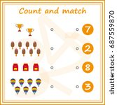 counting game for preschool... | Shutterstock .eps vector #687559870