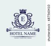 luxury logo template in vector...   Shutterstock .eps vector #687560410