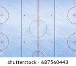 vector of ice hockey rink.... | Shutterstock .eps vector #687560443