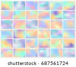 holographic background. smooth... | Shutterstock .eps vector #687561724