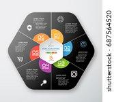 vector infographic of gradient... | Shutterstock .eps vector #687564520