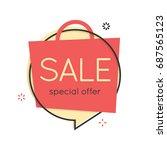 flat speech bubble shape.... | Shutterstock .eps vector #687565123