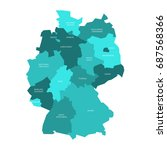 map of germany devided to 13... | Shutterstock .eps vector #687568366
