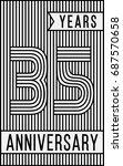 35 years anniversary logo....   Shutterstock .eps vector #687570658