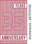 35 years anniversary logo.... | Shutterstock .eps vector #687570700